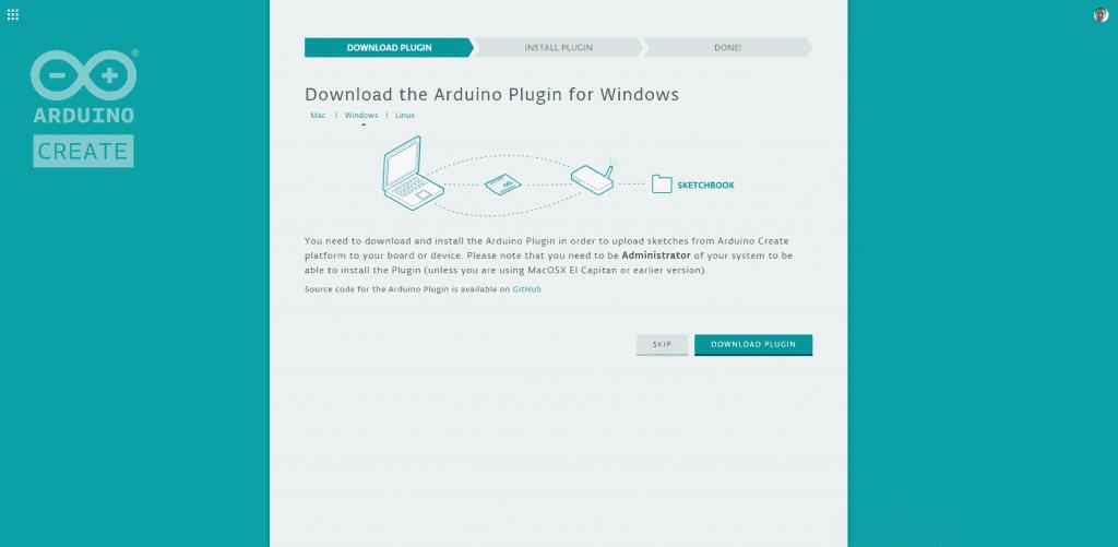 Arduino Web Editor Plugin Installation 1