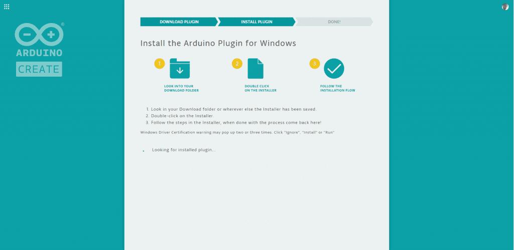 Arduino Web Editor Plugin Installation 3