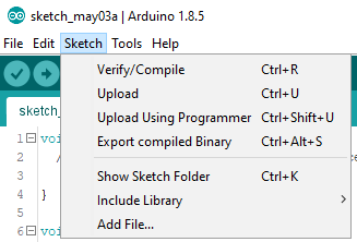 Arduino Desktop IDE Sketch