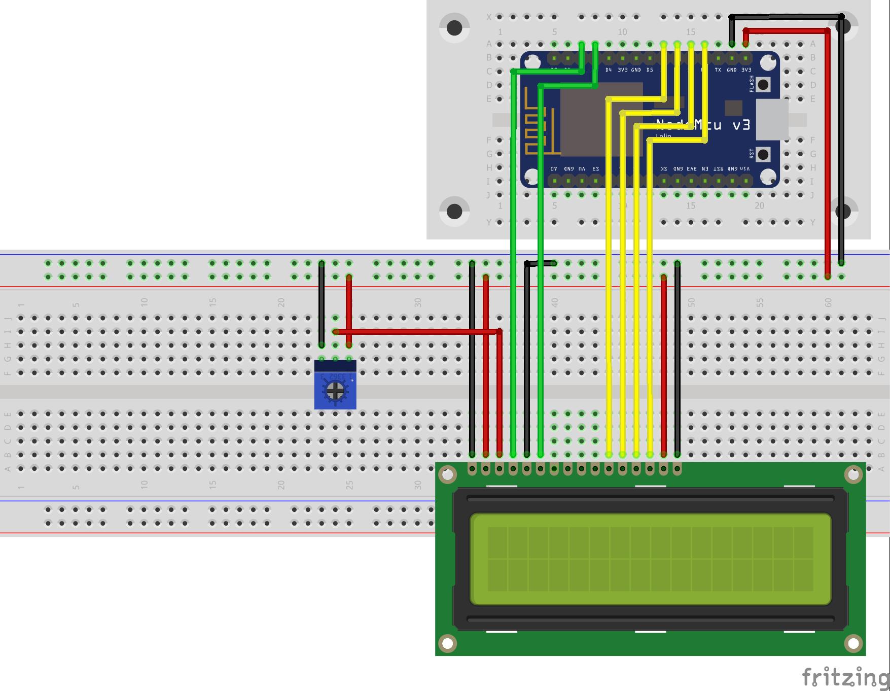 LCD NodeMCU without I2C