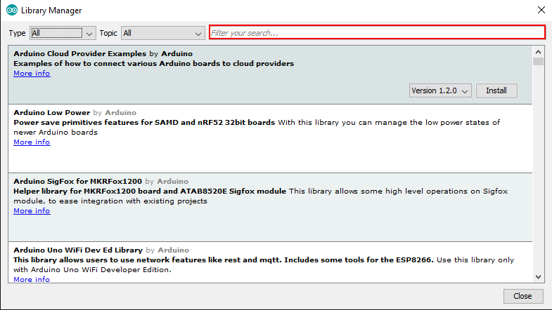 Arduino IDE library 2
