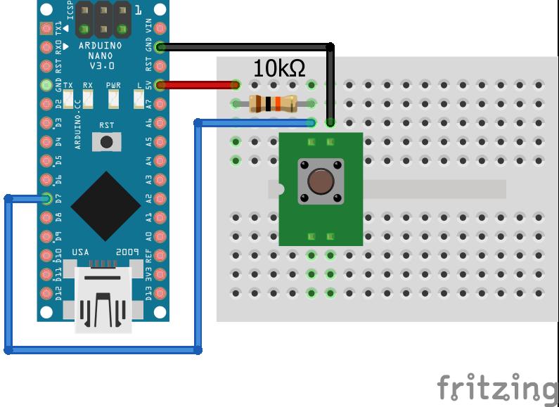 Wiring Pull Up Resistor Arduino Nano