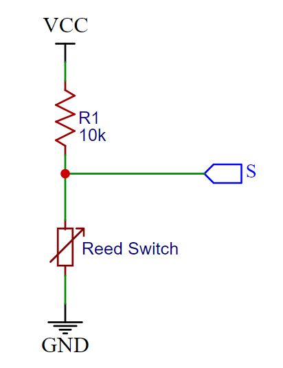 KY-021 Reed Switch Schematic
