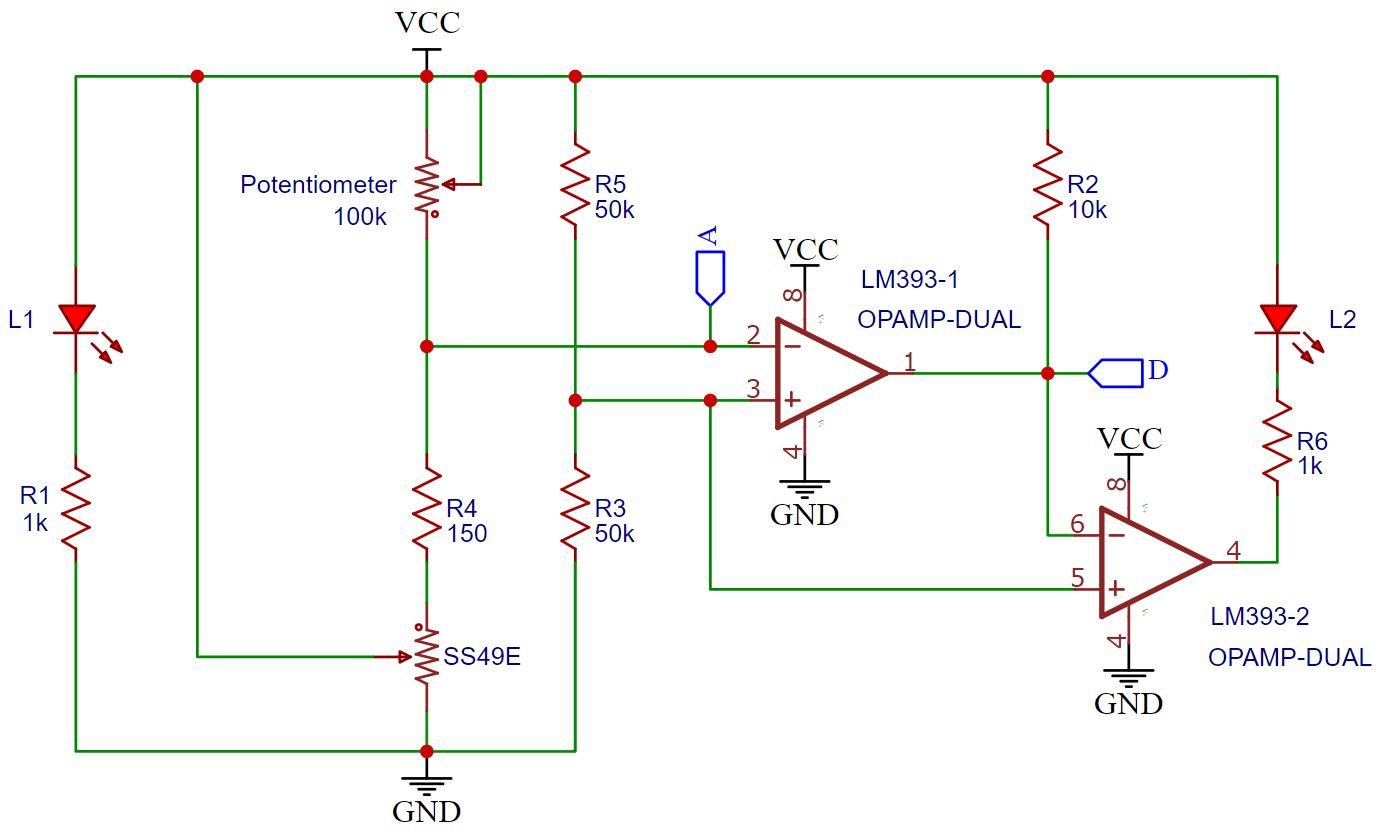 KY-024 Hall Sensor Schematic