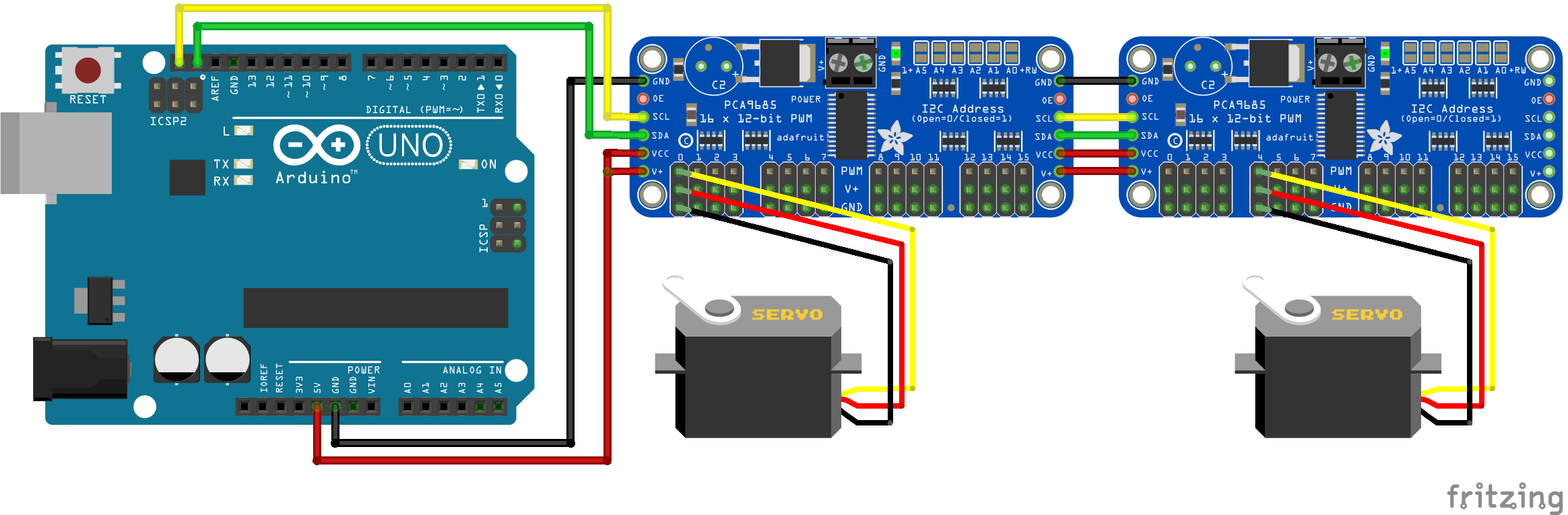 Servo Arduino multiple PCA9685