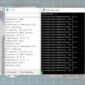 NodeMCU Raspberry Pi MQTT WiFi