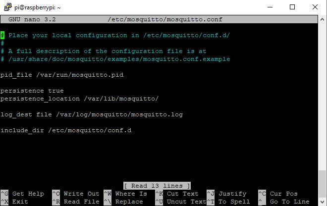 Raspberry Pi Mosquitto Configuration 2