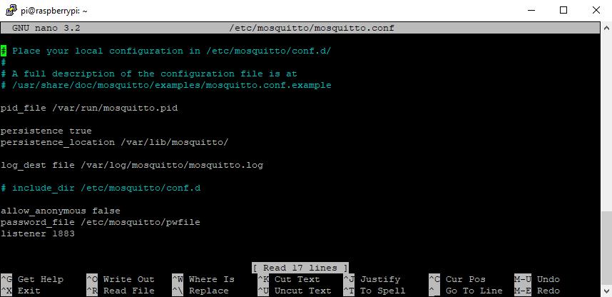 Raspberry Pi Mosquitto Configuration 3
