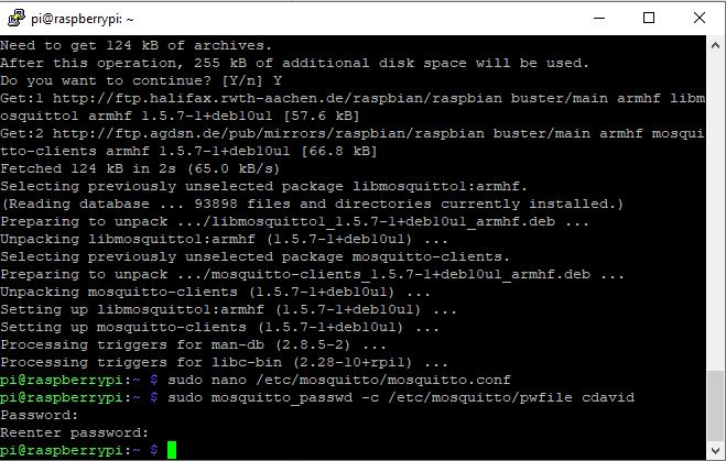 Raspberry Pi Mosquitto User