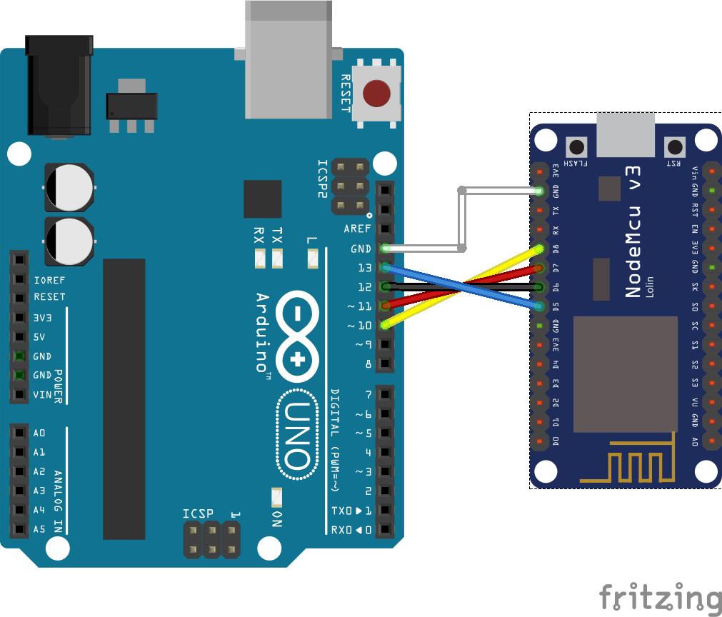 SPI NodeMCU 2 Arduino Uno