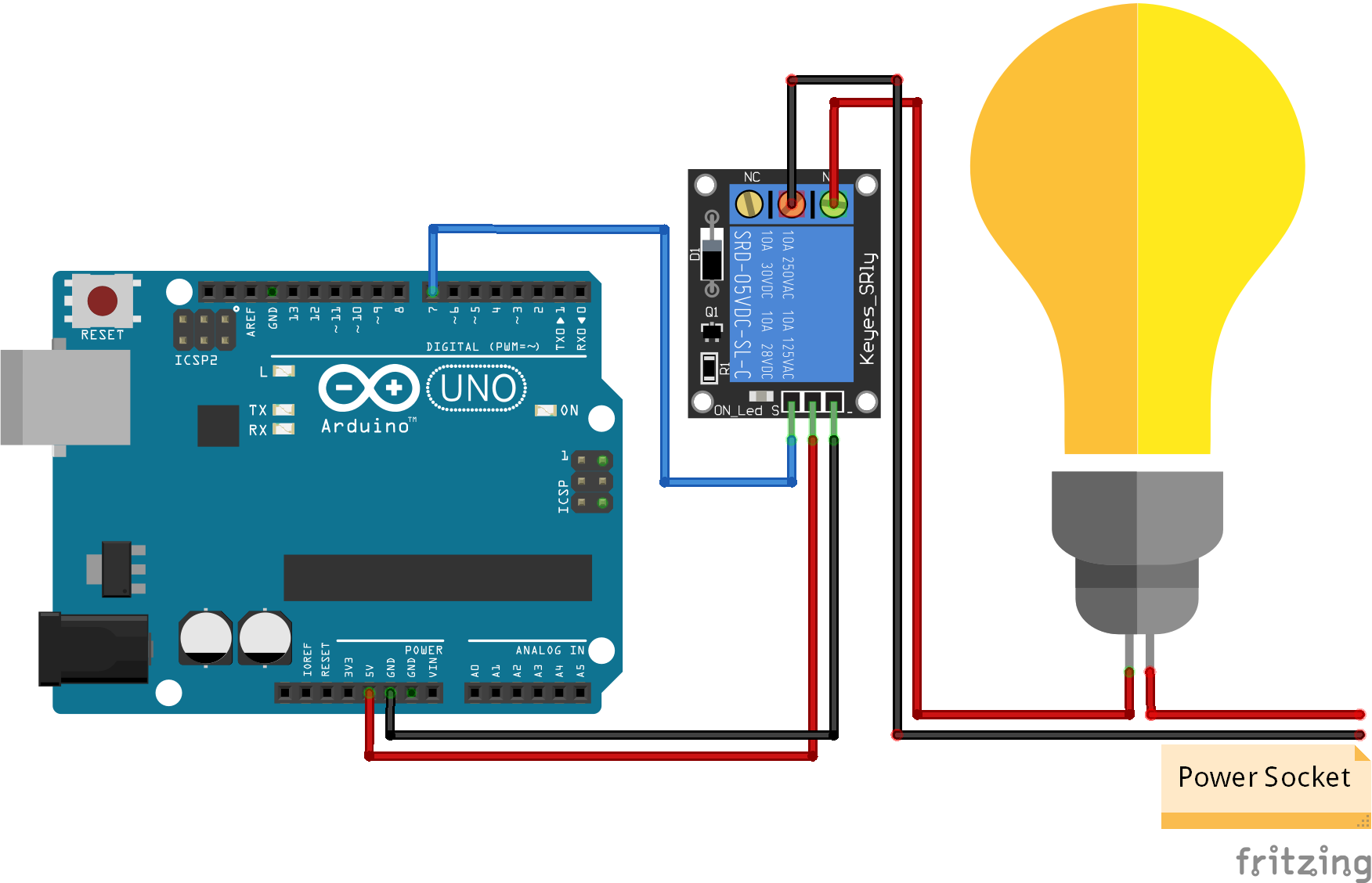 Relay Module Arduino Uno World
