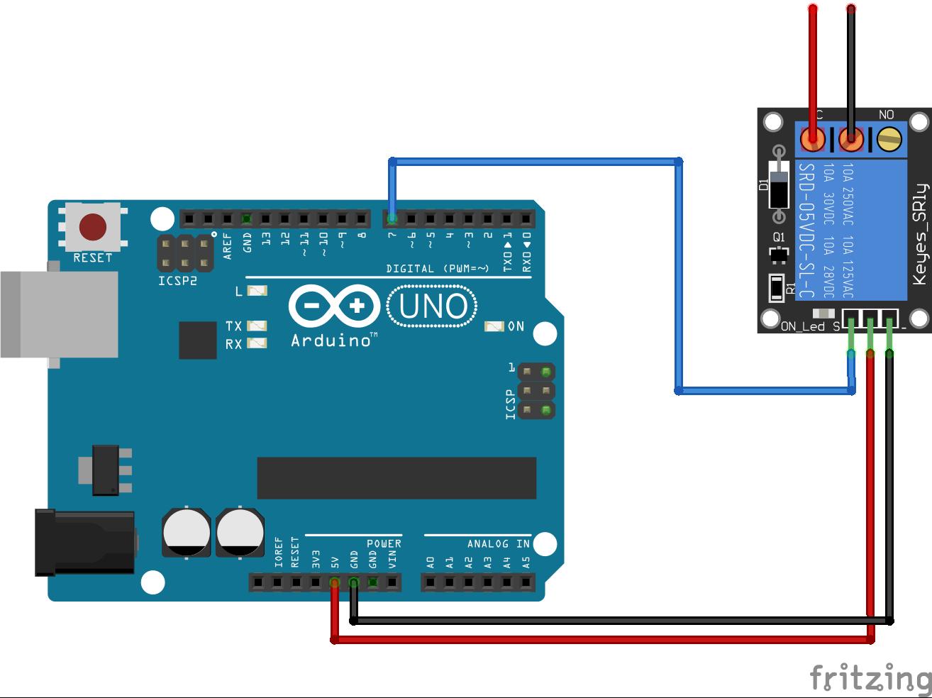 Relay Module Arduino Uno