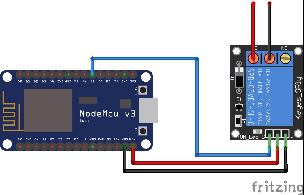 Relay Module ESP8266 NodeMCU