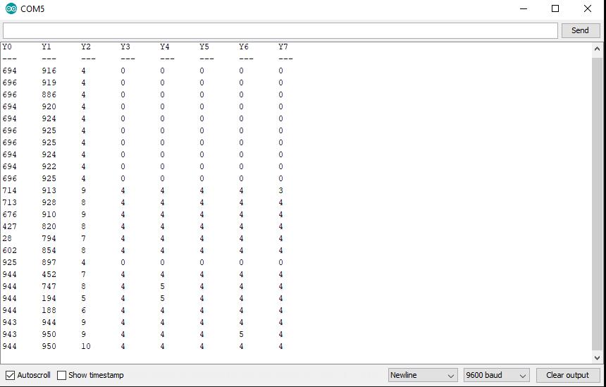 Analog Multiplexer Serial Output