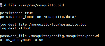 Mosquitto config