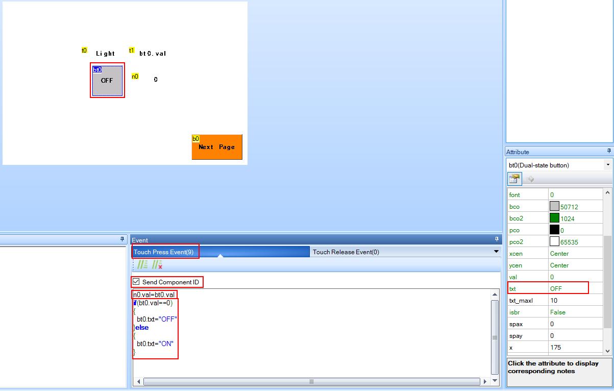 example2 dual-statebutton code