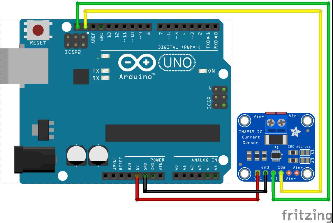 INA219 Arduino Uno