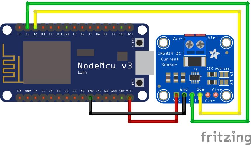 INA219 ESP8266 NodeMCU