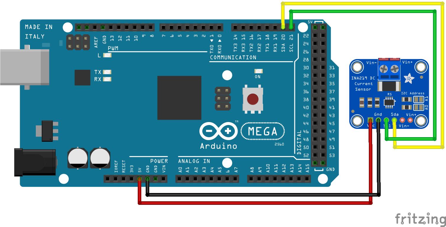INA219 Arduino Mega