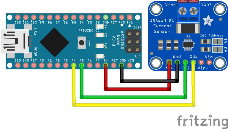 INA219 Arduino Nano
