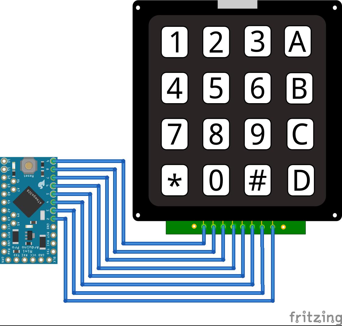 Keypad Arduino Pro Mini