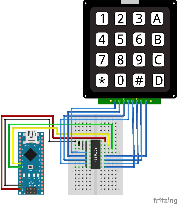 I2C Multiplexer Keypad Arduino Nano