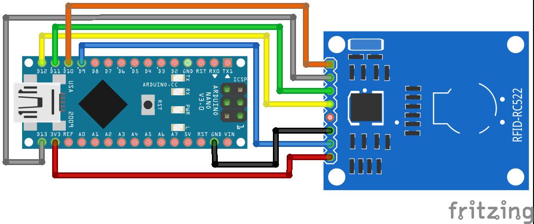 RFID RC522 Arduino Nano