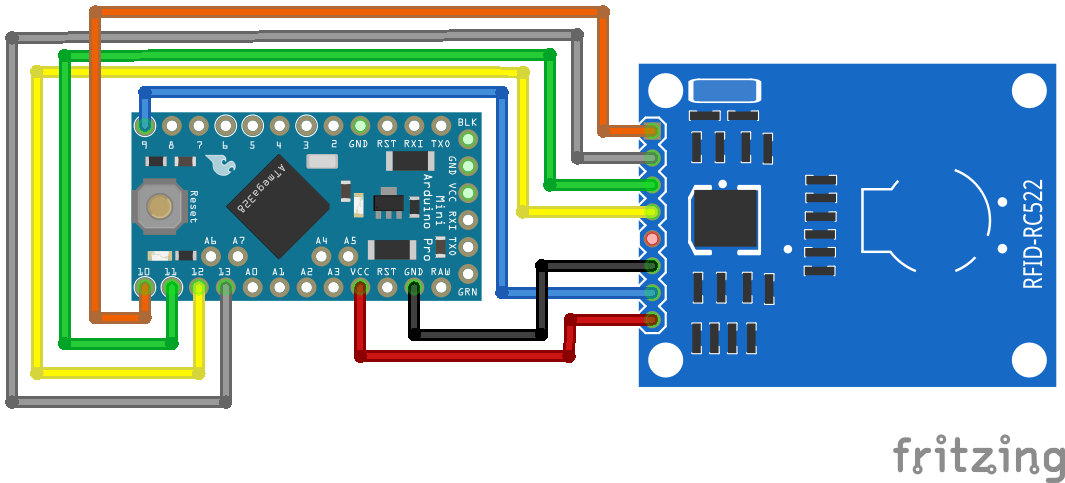 RFID RC522 Arduino Pro Mini 3.3V