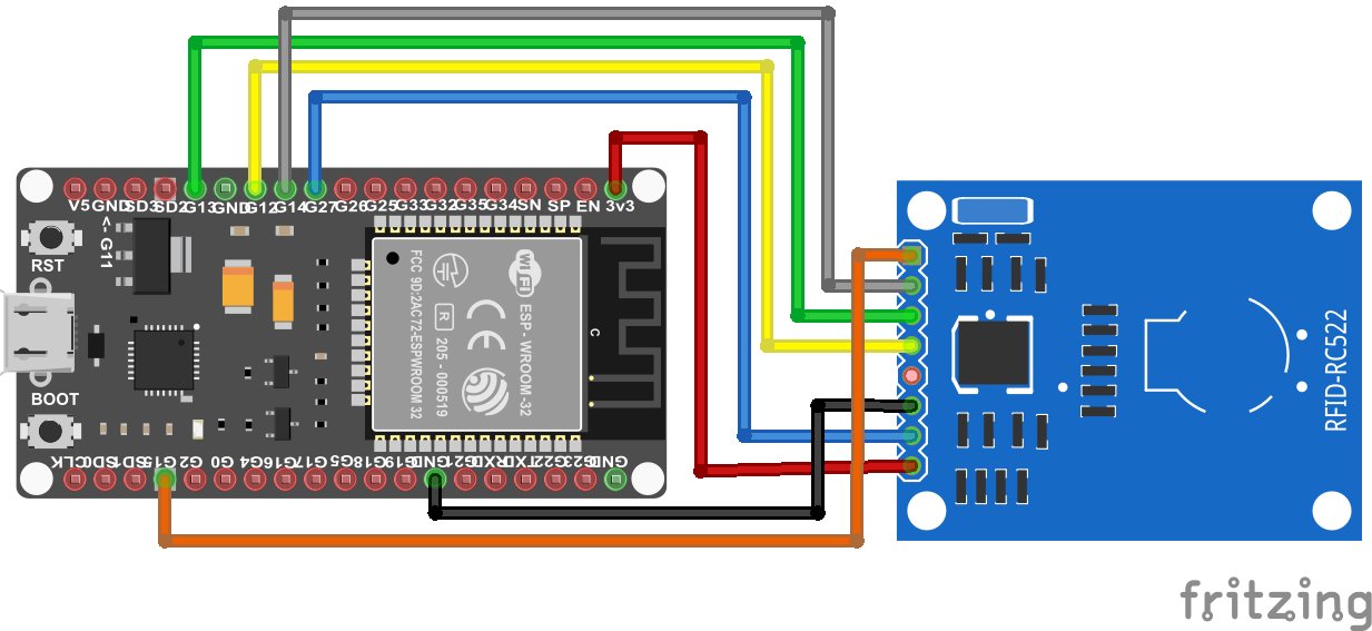 RFID RC522 ESP32 NodeMCU