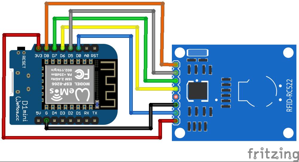 RFID RC522 ESP32 WeMos D1 Mini