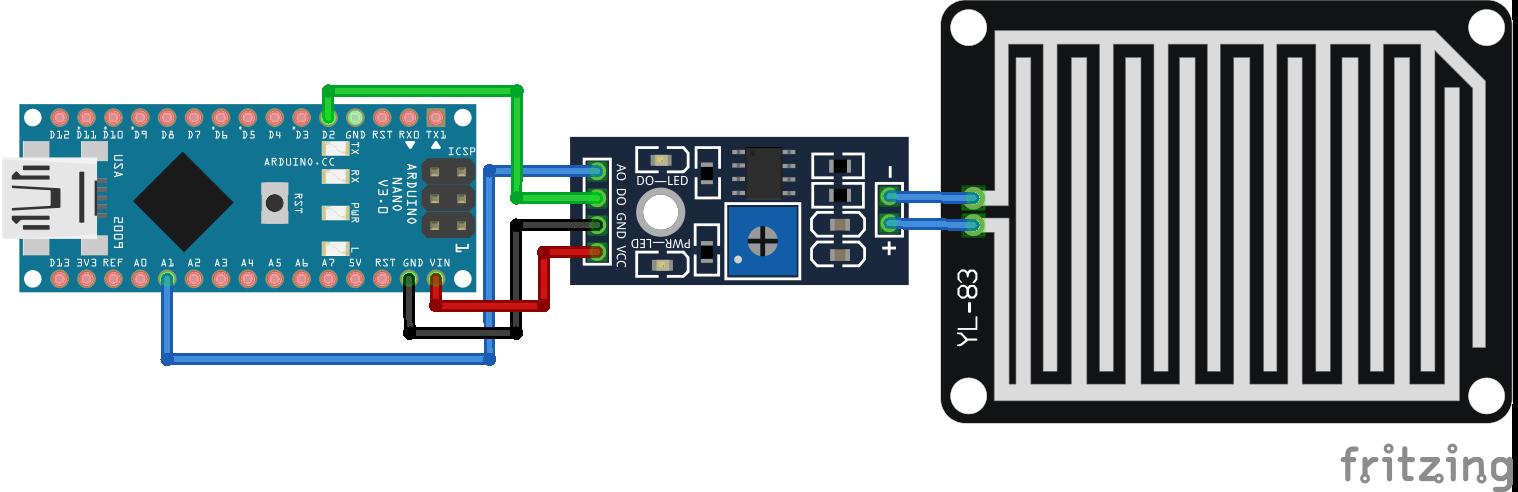 Rain Sensor Arduino Nano