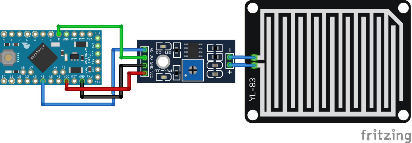 Rain Sensor Arduino Pro Mini
