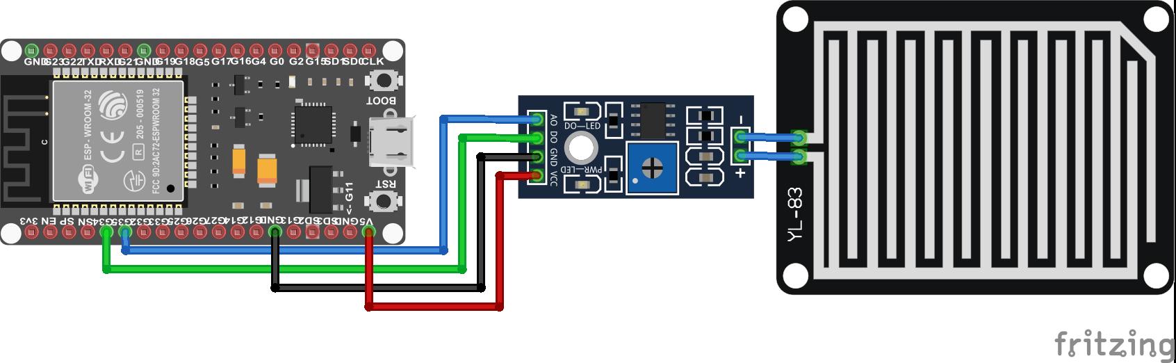 Rain Sensor ESP32 NodeMCU