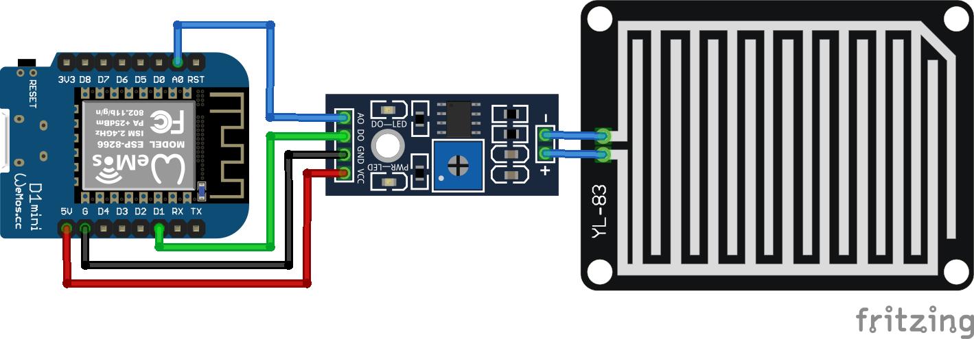 Rain Sensor ESP8266 WeMos D1 Mini