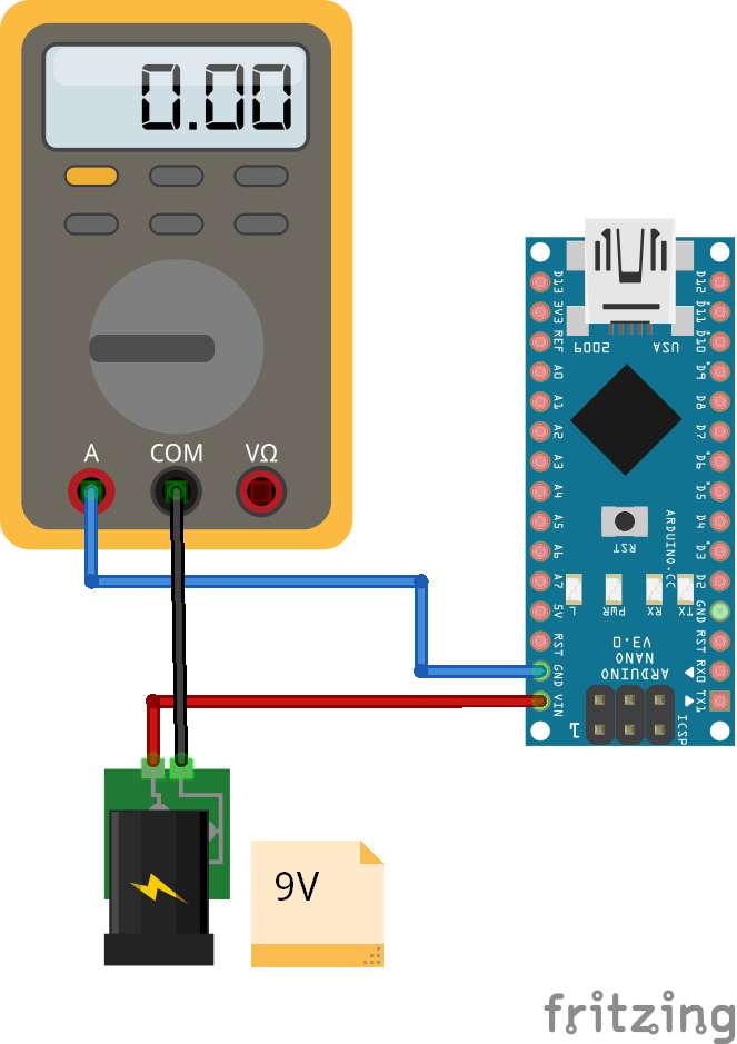 Reference Operation Voltage Arduino Nano