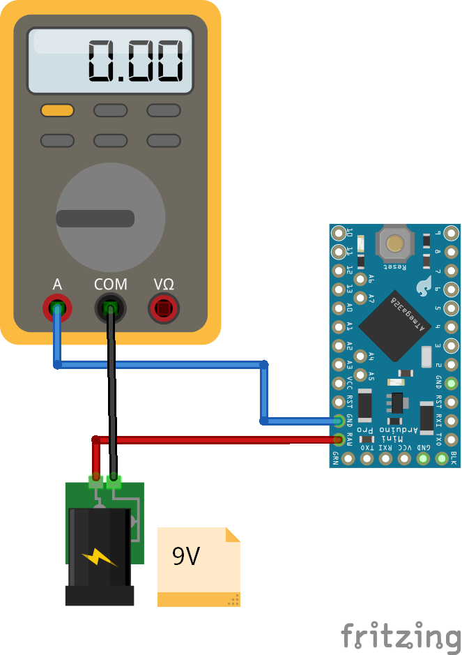 Reference Operation Voltage Arduino Pro Mini