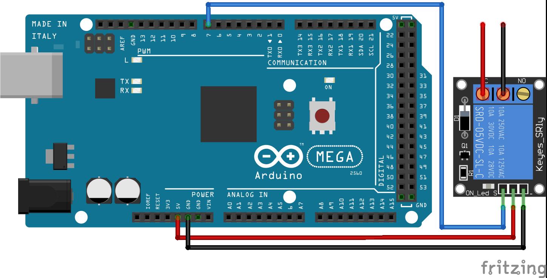 Relay Module Arduino Mega