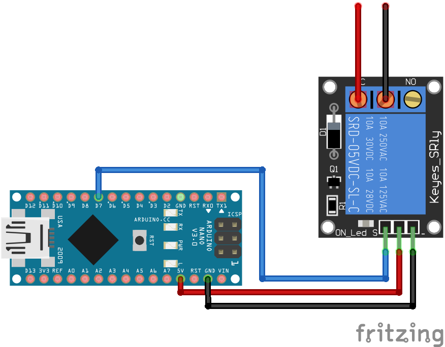 Relais Module Arduino Nano