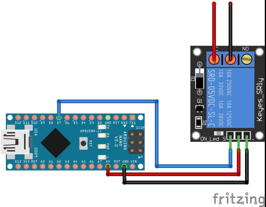 Relay Module Arduino Nano