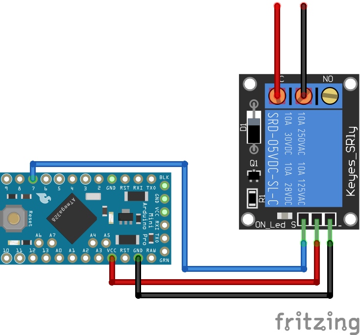 Relay Module Arduino Pro Mini