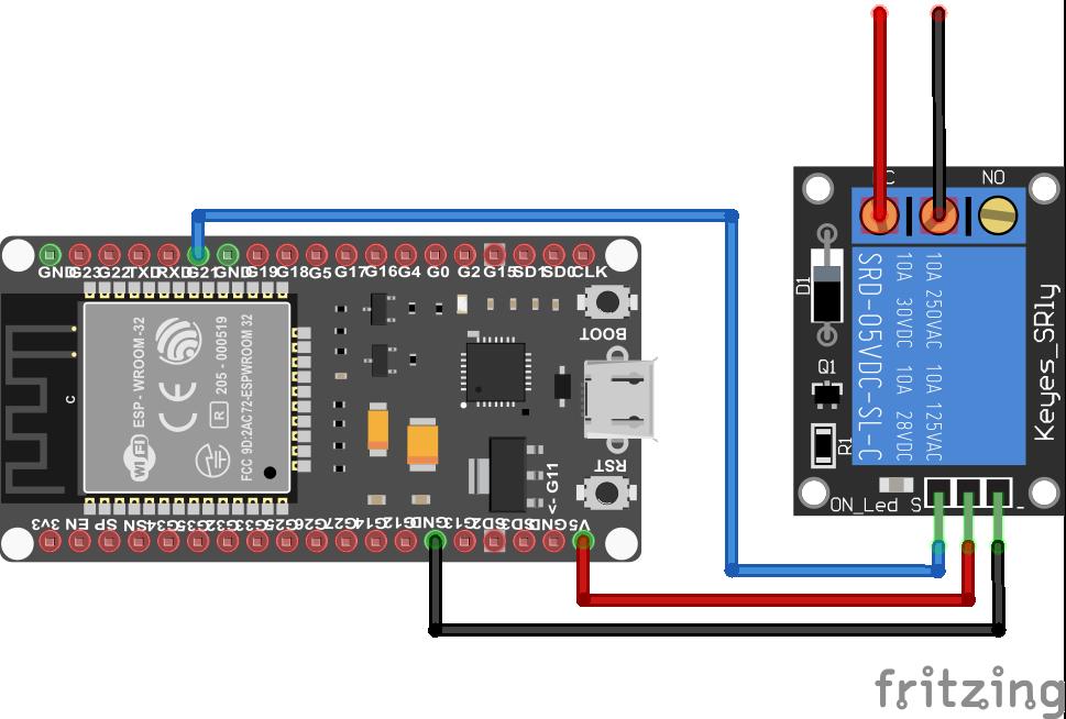 Relay Module ESP32 NodeMCU