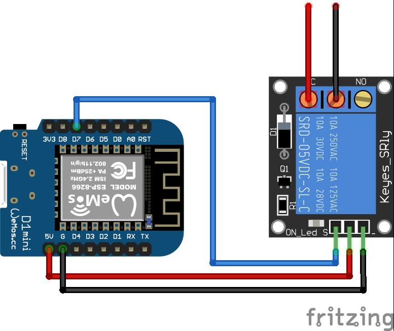 Relay Module ESP8266 WeMos D1 Mini
