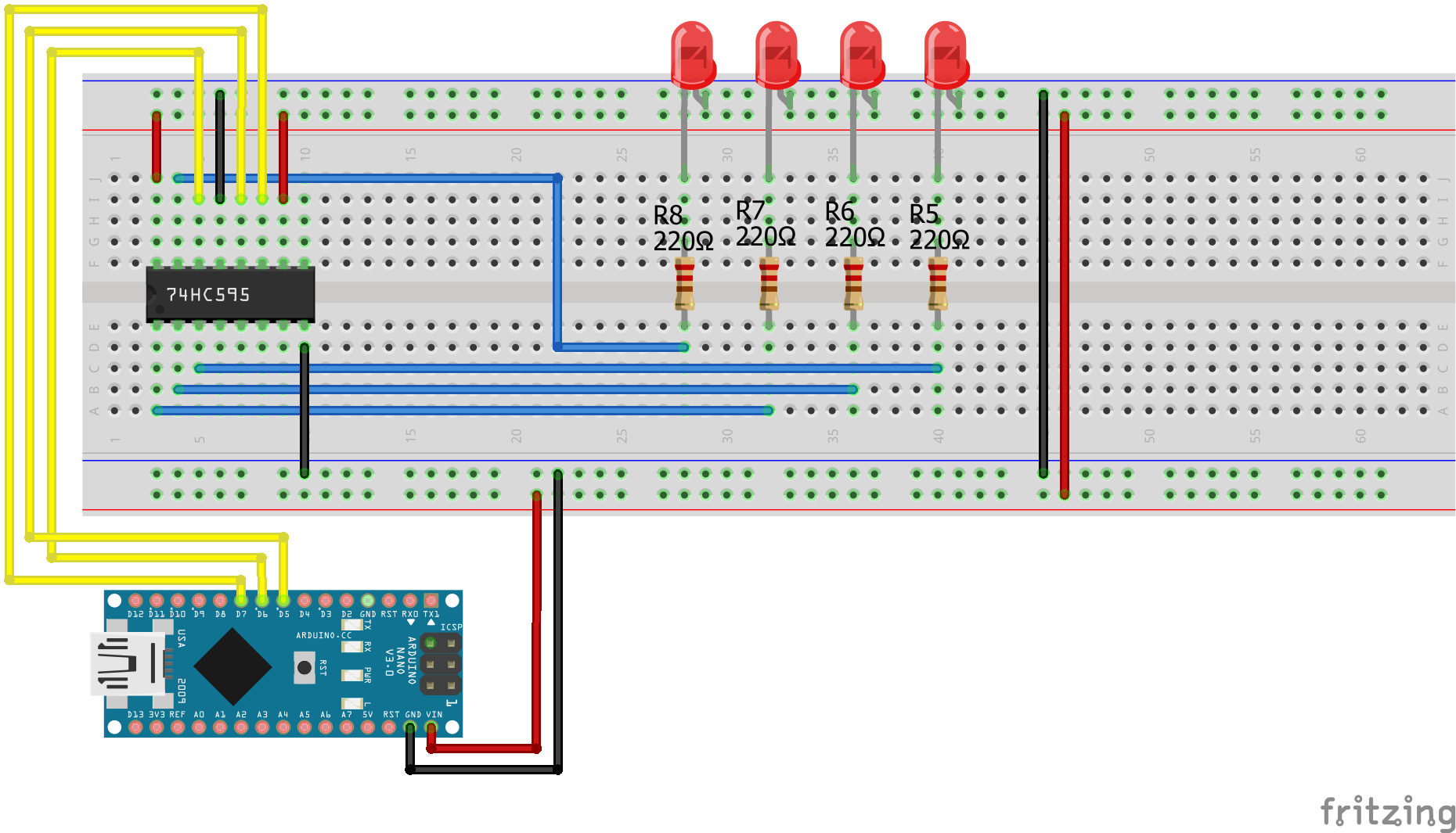 Shift Register Tutorial For Arduino Esp8266 And Esp32 Diyi0t