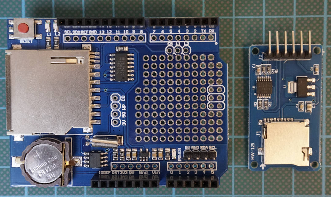 SD Card Module and Arduino Uno Shield
