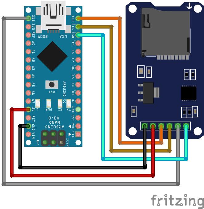 SD Card Module Arduino Nano