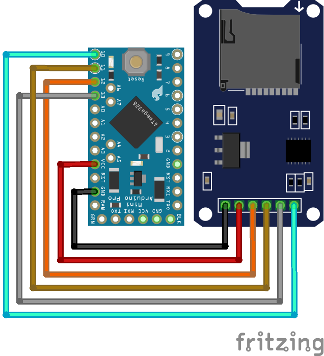 SD Card Module Arduino Pro Mini