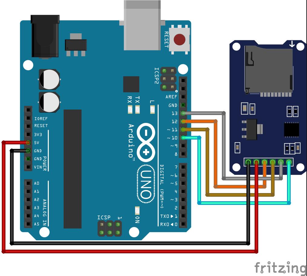 SD Card Module Arduino Uno