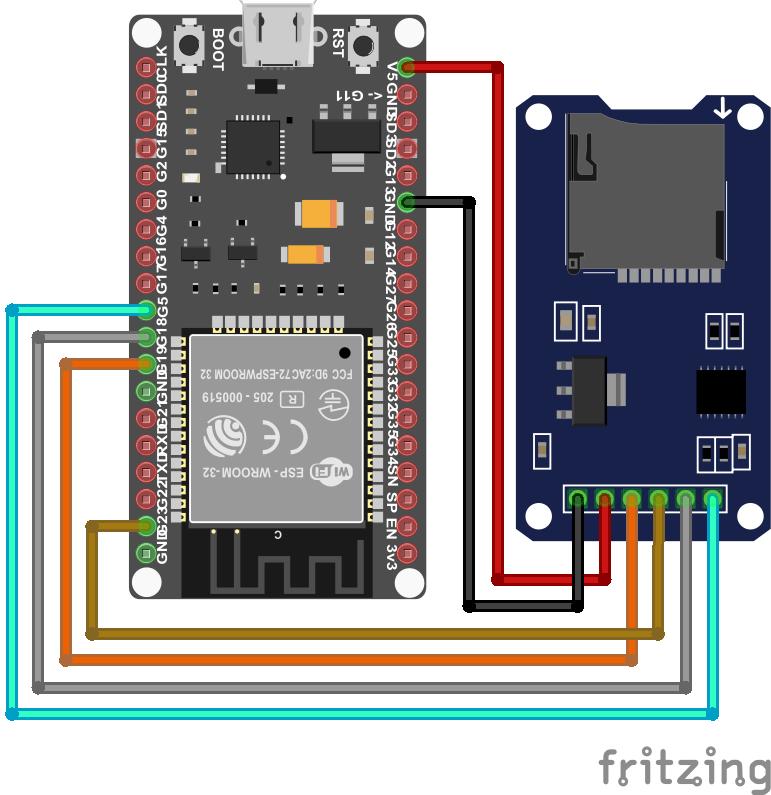SD Card Module ESP32 NodeMCU