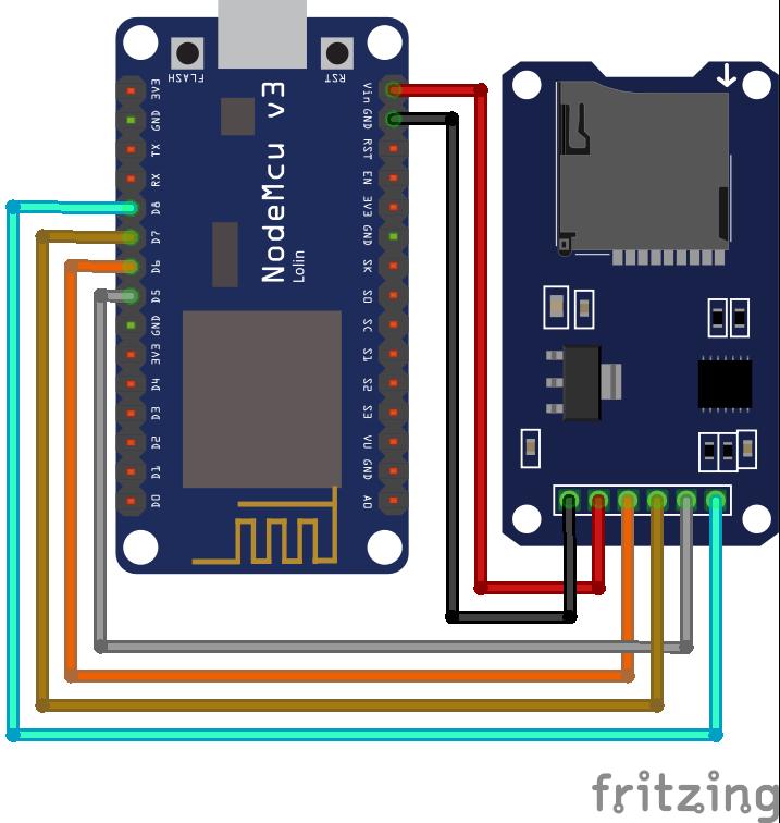 SD Card Module ESP8266 NodeMCU