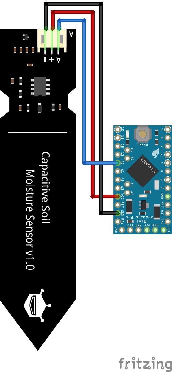 Soil Moisture Sensor Arduino Pro Mini